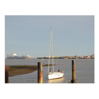 Yacht Bliss Entering Harbour Postcard
