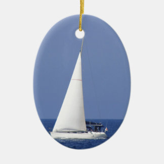 Yacht Ceramic Oval Decoration