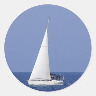 Yacht Classic Round Sticker