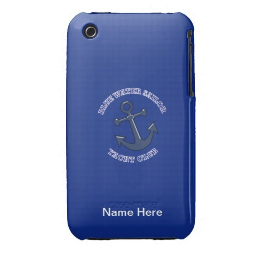 Yacht Club Blue Water Sailor Shield iPhone 3 Cover