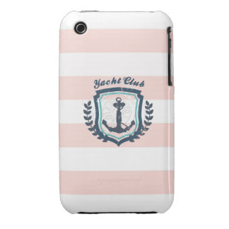 Yacht Club Girly Nautical Anchor Boat Wheel Cute iPhone 3 Case-Mate Cases