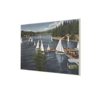 Yacht Club, Sailboat Race Canvas Print