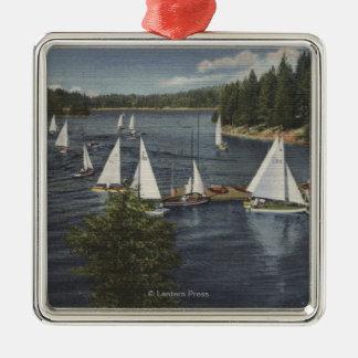 Yacht Club, Sailboat Race Christmas Ornaments