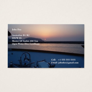 Yacht Crew Business Card