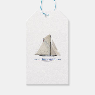 yacht defender 1895 gift tags