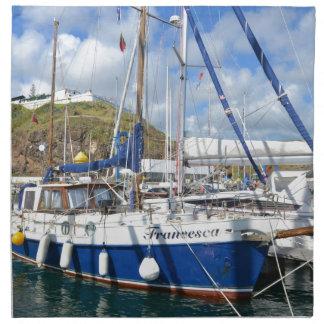 Yacht Francesca In The Azores Napkin