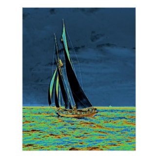 Yacht 'Idler' Races for America's Cup 1901 Poster