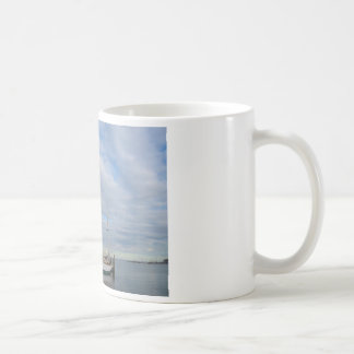 Yacht in Annapolis. Coffee Mug