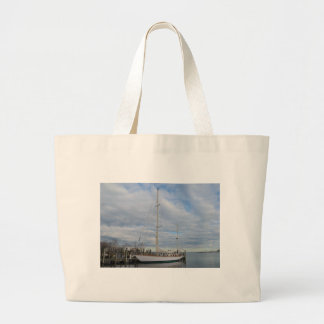 Yacht in Annapolis. Large Tote Bag