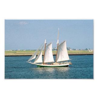 Yacht in Boston Harbor Photo Art