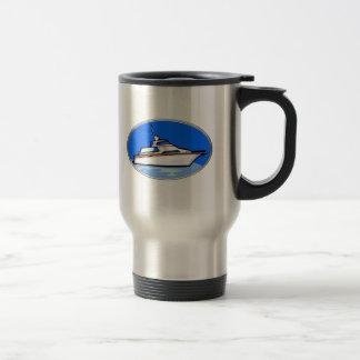 Yacht in Oval Travel Mug