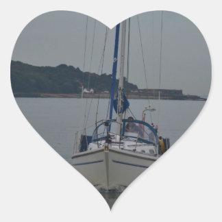 Yacht Motoring Heart Sticker