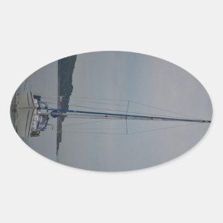 Yacht Motoring Oval Sticker