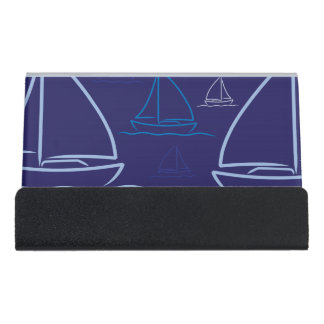 Yacht pattern desk business card holder