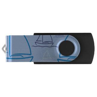 Yacht pattern USB flash drive
