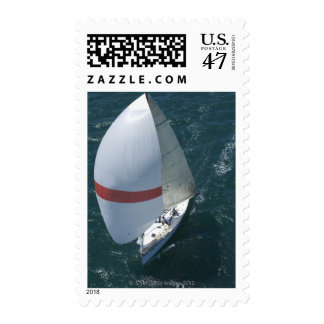 Yacht Postage Stamp