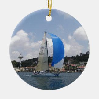 Yacht Racing Christmas Tree Ornaments