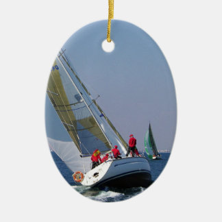 Yacht Racing In The Mar Menor Christmas Ornament
