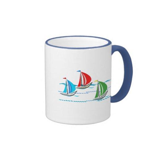 Yacht Racing Trio Mugs