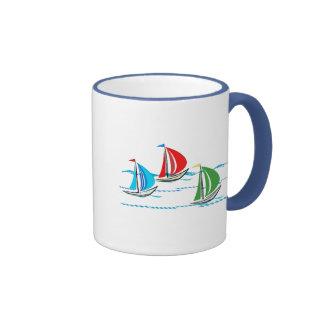 Yacht Racing Trio Ringer Mug