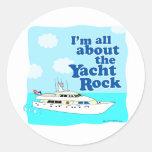 Yacht Rock Round Sticker