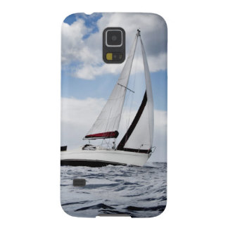 Yacht Sailing In Open Sea Galaxy S5 Cases