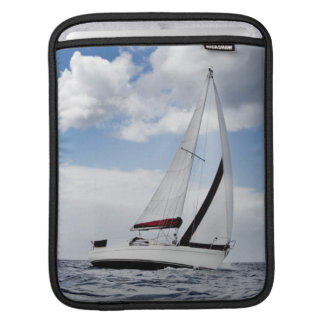 Yacht Sailing In Open Sea iPad Sleeve