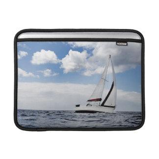 Yacht Sailing In Open Sea MacBook Air Sleeve