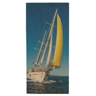 Yacht Sailing | South Australia Wood USB Flash Drive