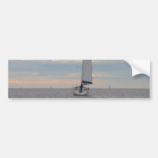 Yacht Sparrow At Dawn Bumper Sticker