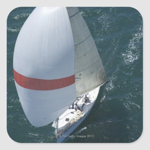 Yacht Square Stickers