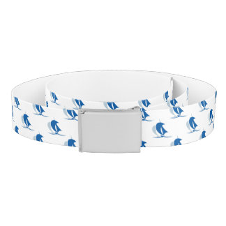 Yacht With Sails Pattern Belt