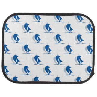 Yacht With Sails Pattern Car Mat