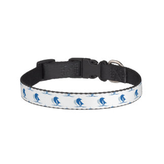 Yacht With Sails Pattern Pet Collar