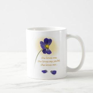 """YachTees_""""She Loves Me, She Loves My Yacht"""" mug"""