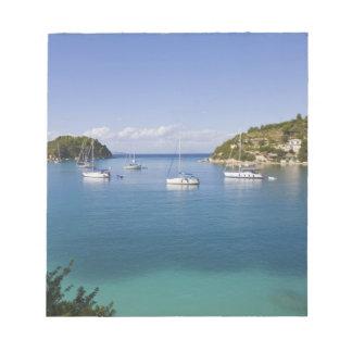 Yachts at anchor, Lakka, Paxos, Greece Notepad