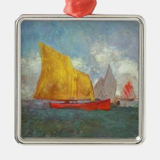 Yachts in a Bay Christmas Ornament