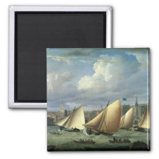 Yachts of the Cumberland Fleet starting Square Magnet