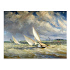 Yachts Racing in Bad Weather Postcard