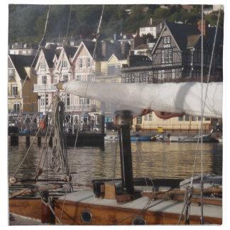 Yacht's smoking chimney. napkin