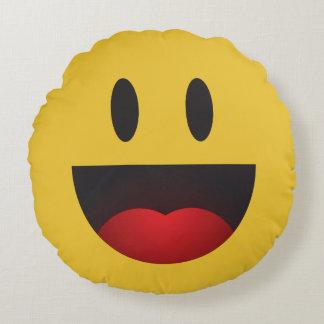 yah emoji round cushion