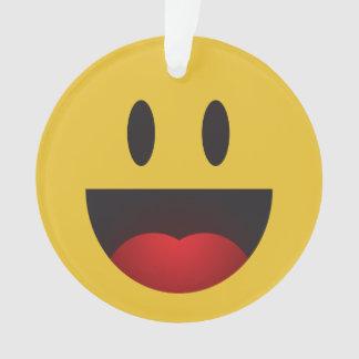 yah smiley emoji ornament