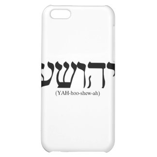Yahushua Jesus with blue letters iPhone 5C Cover