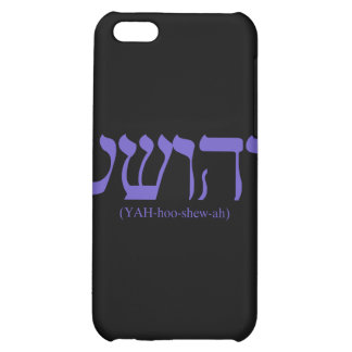 Yahushua Jesus with flag blue lettering iPhone 5C Cover