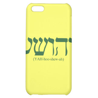 Yahushua Jesus with green letters iPhone 5C Covers