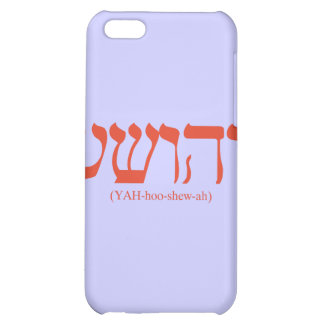 Yahushua Jesus with red letters iPhone 5C Cover