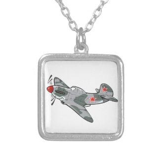 yak-3 square pendant necklace