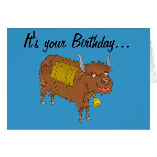 Yak Birthday card