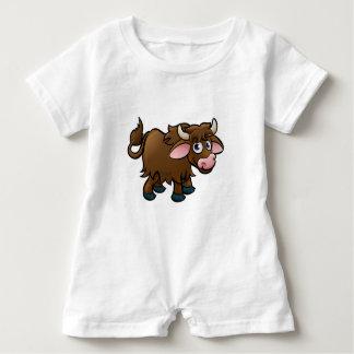 Yak Cartoon Character Baby Bodysuit
