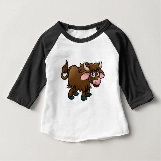 Yak Cartoon Character Baby T-Shirt